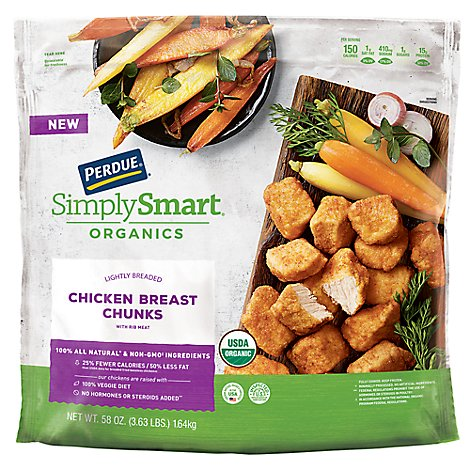 PERDUE Simply Smart Organics Chicken Breast Chunks Lightly Breaded - 24 Oz
