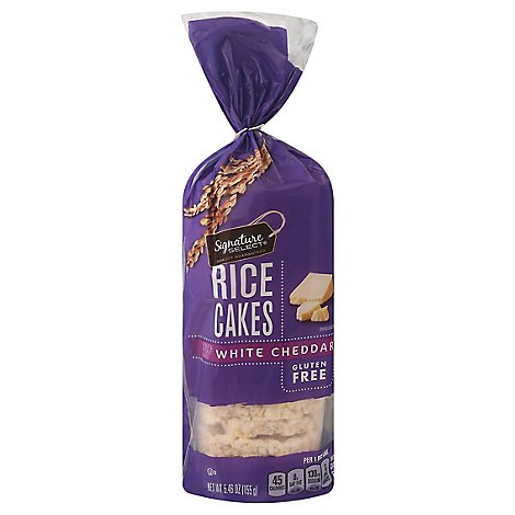 Signature SELECT Rice Cakes Cheddar White - 5.46 Oz