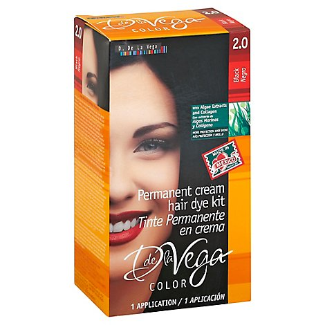D De La Vega Hair Dye 2.0 Black - Each