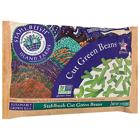 Stahlbush Island Farms Beans Green Cut - 10 Oz