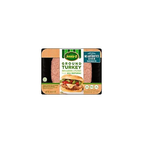 Jennie-O Turkey Store Turkey Ground 93% Lean 7% Fat Raised Without Antibiotics - 16 Oz