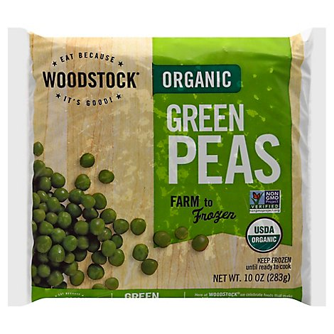Woodstock Farms Organic Peas Green - 10 Oz