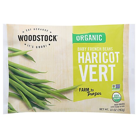 Woodstock Organic Baby Beans French - 10 Oz
