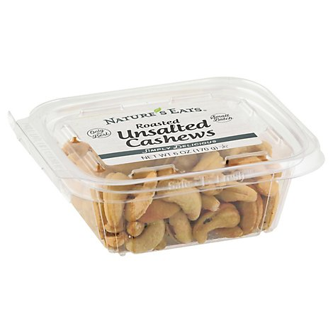 Cashews Roasted Unsalted - 6 Oz