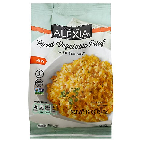 Alexia Vegetable Pilaf Riced With Sea Salt - 12 Oz
