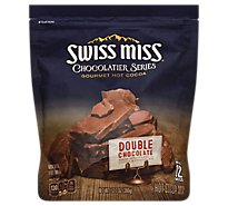 Swiss Miss Cocoa Mix Hot Gourmet Chocolate Series Double Chocolate Pouch - 12.7 Oz