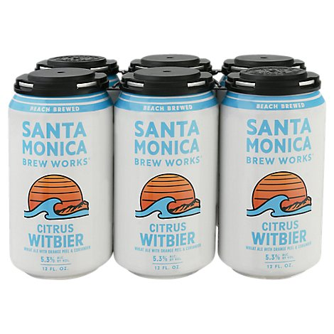 Santa Monica Wit Modern White Ale In Cans - 6-12 Fl. Oz.
