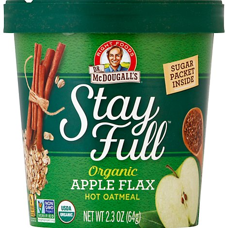 Dr Mcdougalls Cereal Oatml Apple Flax - 2.3 Oz