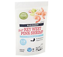 Open Nature Shrimp Raw Wild Caught Shell On 21 To 30 Count - 16 Oz