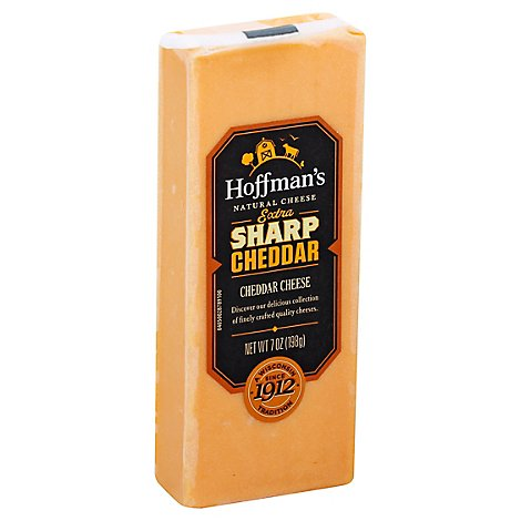 Hoffmans Cheese Cheddar Extra Sharp - 7 Oz