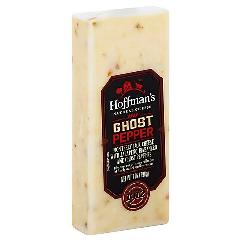 Hoffmans Cheese Monterey Jack Ghost Pepper With Jalapeno Habanero - 7 Oz