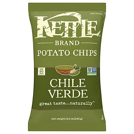 Kettle Potato Chips Chili Verde - 8.5 Oz