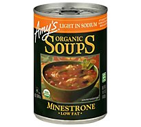 Amys Soups Organic Low Fat Light in Sodium Minestrone - 14.1 Oz