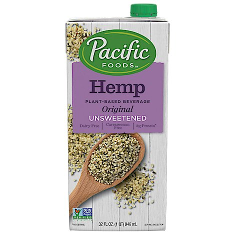 Pacific Foods Hemp Milk Unswtnd Orgnl - 32 Oz