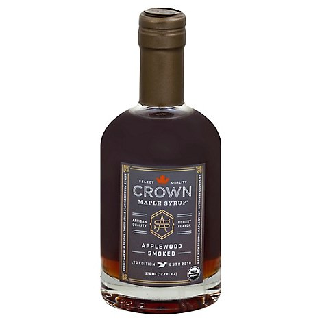 Crown Maple Syrup Applewood Smoked - 12.7 Fl. Oz.