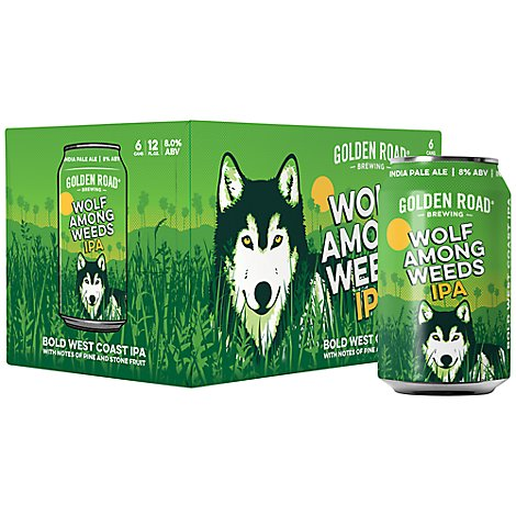 Golden Road Beers Ipa Wolf Among Weeds Cans - 6-12 Fl. Oz.