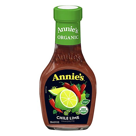 Annies Naturals Vinaigrette Organic Chile Lime Bottle - 8 Oz