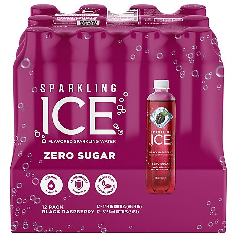Sparkling Ice Black Raspberry Sparkling Water 12-17- fl. oz. Bottles