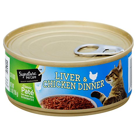 Signature Pet Care Cat Food Dinner Liver And Chicken - 5.5 Oz