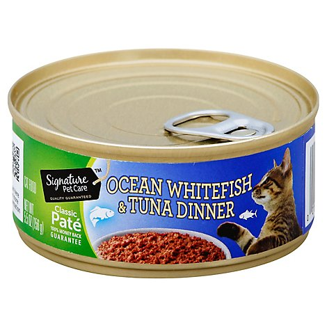 Signature Pet Care Cat Food Dinner Ocean Whitefish And Tuna - 5.5 Oz