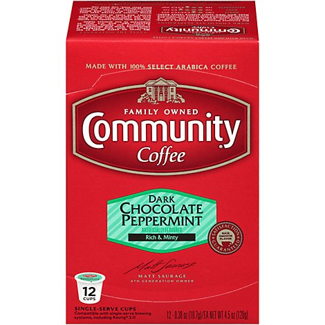 Community Dark Chocolate Peppermint K-Cups - .43 Lb