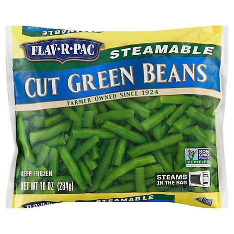 Flav-R-Pac Steamable Vegetables Beans Green Cut - 10 Oz