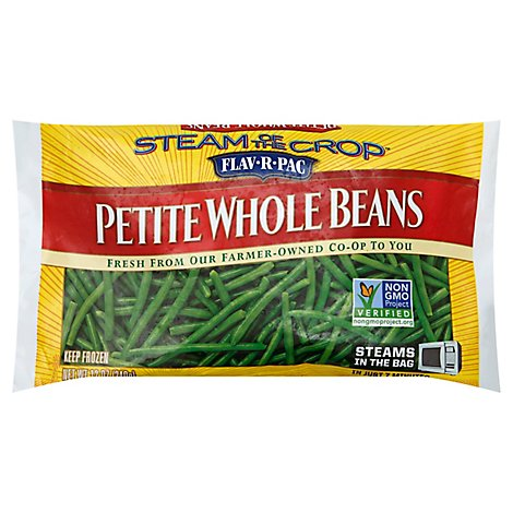 Flav-R-Pac Steam Of The Crop Vegetables Beans Whole Petite - 12 Oz