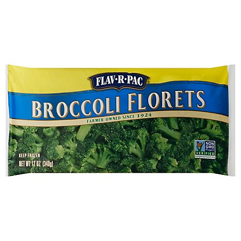 Flav-R-Pac Steam Of The Crop Vegetables Broccoli Florets - 12 Oz