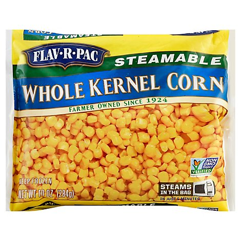 Flav-R-Pac Steamable Vegetables Corn Kernel Whole - 10 Oz