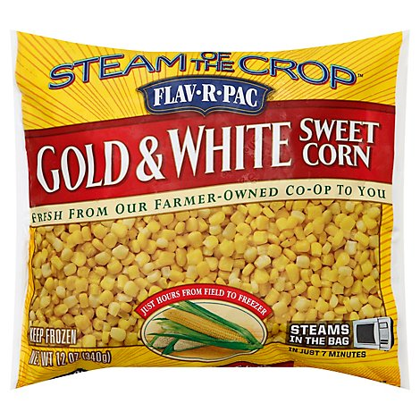 Flav-R-Pac Steam Of The Crop Vegetables Corn Sweet Gold & White - 12 Oz