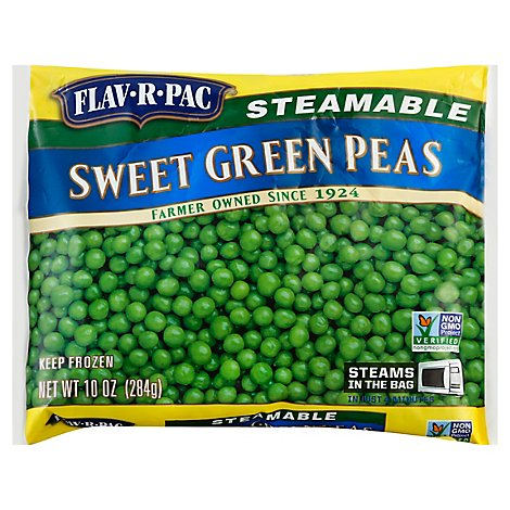 Flav-R-Pac Steamable Vegetables Peas Green Sweet - 10 Oz