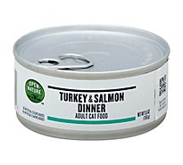 Open Nature Cat Food Adult Turkey & Salmon Dinner Can - 5.5 Oz