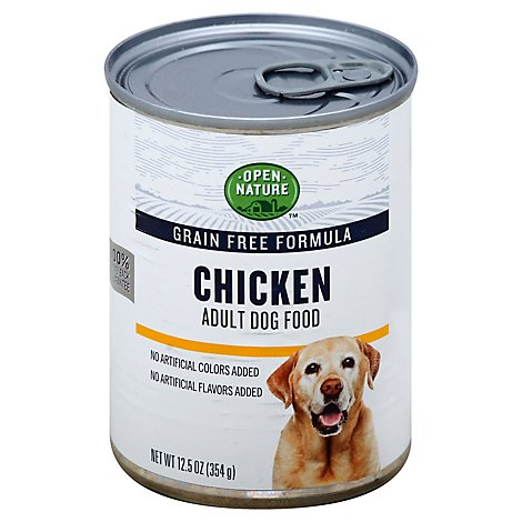 Open Nature Dog Food Adult Grain Free Chicken Can - 12.5 Oz