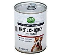 Open Nature Dog Food Adult Grain Free Beef & Chicken Can - 12.5 Oz