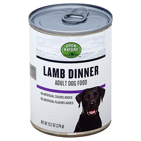 Open Nature Dog Food Adult Lamb Dinner Can - 13.2 Oz