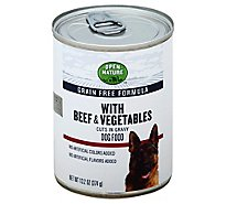 Open Nature Dog Food Grain Free Cut Gravy Beef & Vegetables - 13.2 Oz