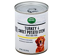 Open Nature Dog Food Adult Turkey & Sweet Potato Stew Can - 13.2 Oz