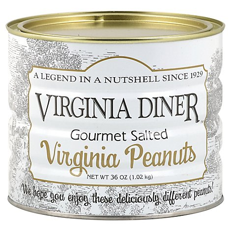 Virginia Diner Gourmet Salted Virginia Peanuts - 36 Oz
