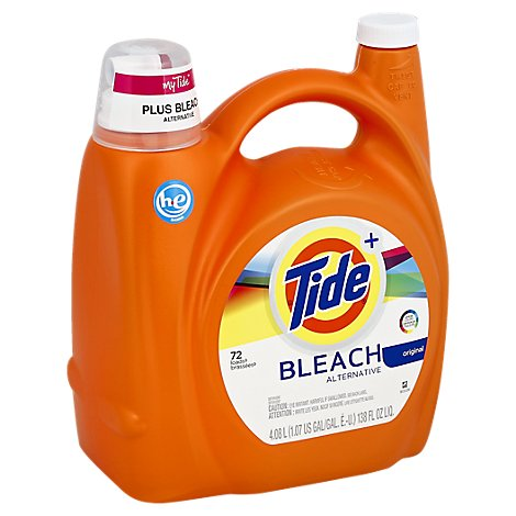 Tide + Liquid Detergent HE Bleach Alternative Original Jug - 138 Fl. Oz.