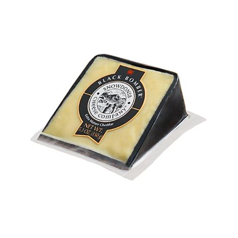 Snowdonia Little Black Bomber Extra Mature Cheddar Cheese Wedge - 5.3 Oz