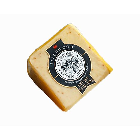 Snowdonia Beechwood Smoked Cheddar Cheese Wedge - 5.3 Oz