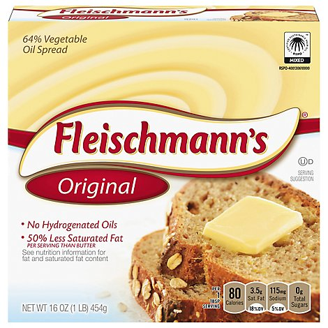 Fleischmanns Vegetable Oil Spread 65% - 16 Oz