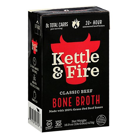 Kettle & Fire Bone Broth Beef - 16.2 Fl. Oz.