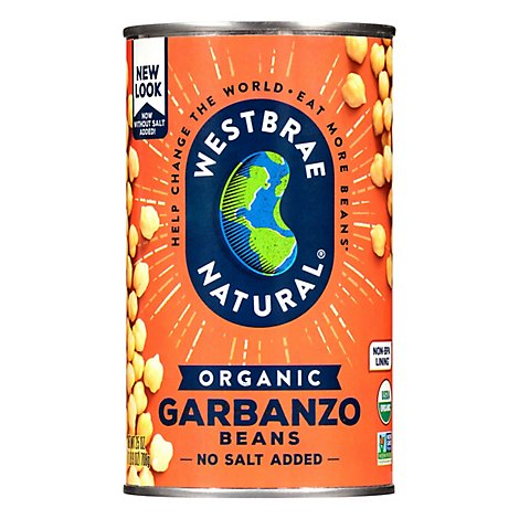 Westbrae Natural Organic Beans Garbanzo Low Sodium - 25 Oz