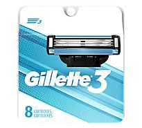 Gillette3 Mens Razor Blade Refills by Gillette - 8 Count