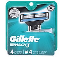 Gillette MACH3 Cartridges - 4 Count