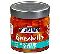 Delallo Roasted Pepper Bruschetta - 7.05 Oz