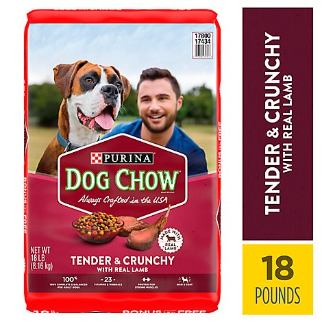 Dog Chow Dog Food Dry Tender & Crunchy Lamb - 18 Lb