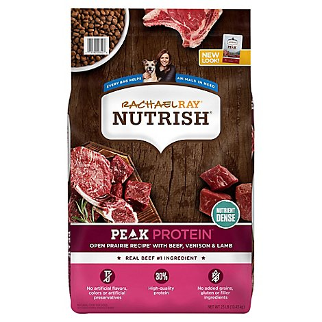 Rachael Ray Nutrish Peak Food for Dogs with Beef Venison & Lamb Bag - 23 Lb