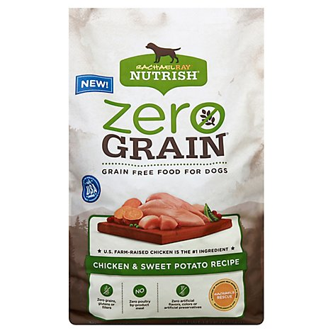 Rachael Ray Nutrish Zero Grain Food for Dogs Chicken & Sweet Potato Recipe Bag - 14 Lb